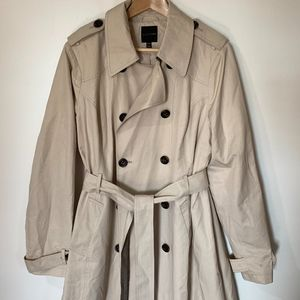 Lane Bryant Tan Trench Coat Size 14/16